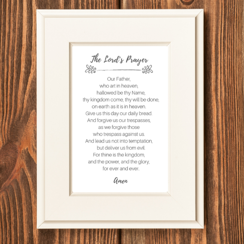 graphic regarding Printable Lords Prayer referred to as Printable Lords Prayer Rachel Anne Ridge
